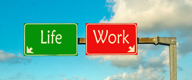 Make your choice; life or work Stock Image