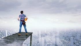 Make your city grow . Mixed media Stock Photos