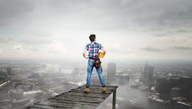 Make your city grow . Mixed media Stock Image