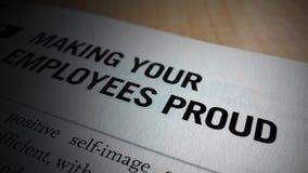 Make your employee proud Stock Image
