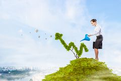 Make your income grow. Mixed media royalty free stock photos
