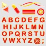 Make your logo abc alphabet set with emblems. Isolated on white royalty free illustration