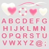 Make your logo abc alphabet set with emblems Royalty Free Stock Photography
