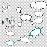 Make your own explosion clouds pack Royalty Free Stock Photos