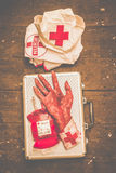 Make your own frankenstein medical kit Royalty Free Stock Photo