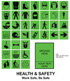Make your own Health and Safety signs Royalty Free Stock Images