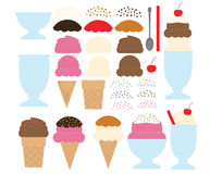 Make Your Own Ice Cream Design Stock Images