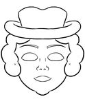 Make your own mask. Coloring activity page for kids to create their own masks for puirm stock illustration