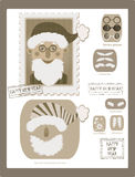 Make your own retro stamp with Santa Stock Photography