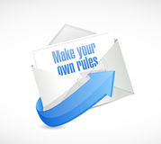 Make your own rules envelope mail. Illustration design over a white background Stock Images