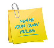 make your own rules memo post Stock Photos