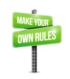 Make your own rules street sign. Illustration design over a white background Stock Photos