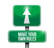 Make your own rules street sign. Illustration design over a white background Stock Photo