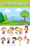 Make your own scene. Illustration royalty free illustration