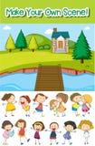 Make your own scene. Illustration stock illustration