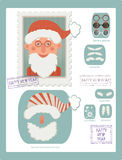 Make your own stamp with Santa Royalty Free Stock Photo