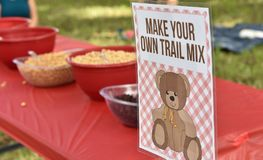 Make your own trail mix stock image