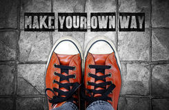 Make your own way, Inspiration quote Royalty Free Stock Photo