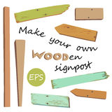 Make your own wooden singpost Royalty Free Stock Photos