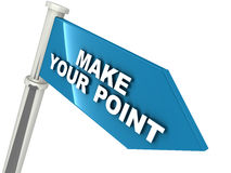 Make your point Royalty Free Stock Photo