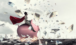 Make your savings work for you . Mixed media Royalty Free Stock Photo