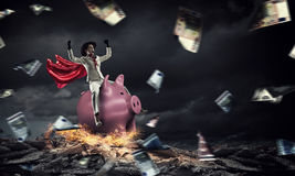 Make your savings work for you . Mixed media Stock Images