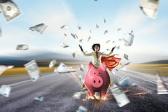 Make your savings work for you . Mixed media Stock Photography