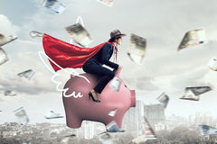 Make your savings work for you . Mixed media Royalty Free Stock Images