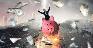 Make your savings work for you . Mixed media Royalty Free Stock Photos