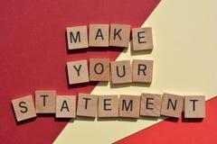 Free Make Your Statement, Banner Headline Royalty Free Stock Image - 214256776