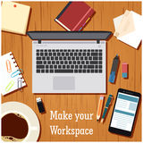 Make your workspace banner1 Royalty Free Stock Image