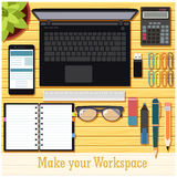 Make your workspace banner7 Stock Image