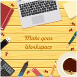 Make your workspace banner6 Royalty Free Stock Image