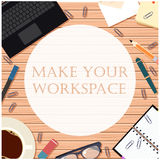 Make your workspace banner8 Stock Image