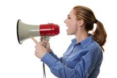 Make yourself heard Stock Image
