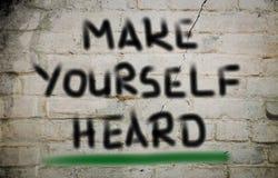 Make Yourself Heard Concept Stock Photography
