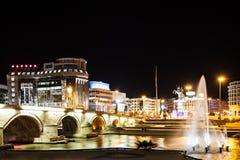 Makedonien fyrkant arkivbilder