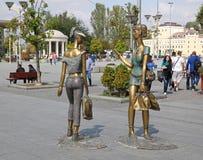 Makedonien fyrkant arkivbild