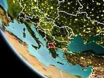 Makedonien på natten på jord Royaltyfri Foto