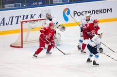 A Makeev (91) w akci Fotografia Stock