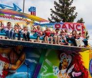 Makeevka, Ουκρανίας - 9 Μαΐου, 2012: Οι κάτοικοι της πόλης έχουν τη διασκέδαση Στοκ Φωτογραφία