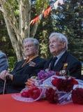 Makeevka, Ucrânia - maio, 7, 2014: Veteranos do duri da segunda guerra mundial Foto de Stock Royalty Free