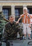 Makeevka, Ucraina - maggio, 9, 2012: Celebrazione dell'anniversario di Fotografie Stock