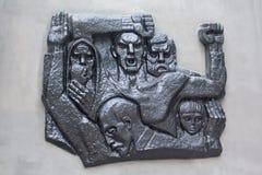 Makeevka; Ukraina - Juli 28; 2016: Monument till offren av Na royaltyfri foto