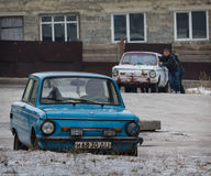 Makeevka, Ukraine - January, 29, 2015: Older models of the once Stock Images