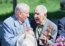 Makeevka, Ukraine - Mai, 7, 2014: eterans des Zweiten Weltkrieges während Stockfotografie