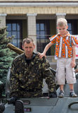 Makeevka, Ukraine - May, 9, 2012: Celebrating the anniversary of Stock Photos