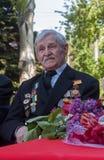 Makeevka, Ukraine - May, 7, 2014: Veteran of World War II during Stock Photo