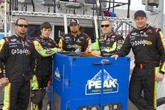 Maken kuiltjes de Nationale Reeksen NASCAR GoDaddy in Bemanning royalty-vrije stock foto's