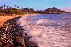 Makena海滩,毛伊,夏威夷 库存图片